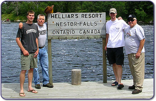 Family Vacation - Helliars is the Resort of Choice in Nestor Falls Ontario